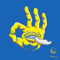 Stephen Curry Three Hand Illustration