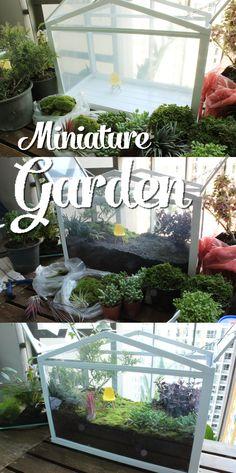 #miniature #garden #ikea #glasshouse