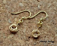 Very nice wire earrings, wire work, Unique from Lisa Astrup Art & craft by DaWanda.com