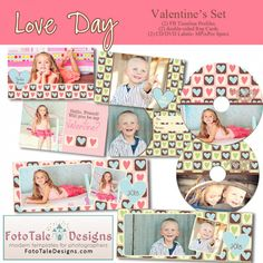 FREE #Valentine templates from #FotoTale Designs!