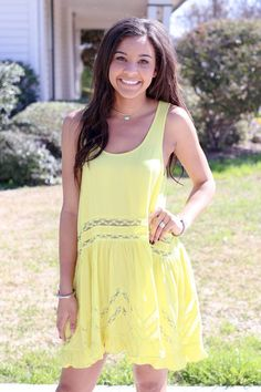 Free Fallin' Dress - Lemon