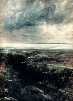 Artist John Constable was born ‪#‎onthisday‬ in 1776. Hadleigh Castle. 1828.