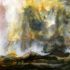 *NEW WORK* 'Silence is golden' Encaustic on board  available to purchase in my new online shop at : www.isabellegaborit.com www.isabellegaborit.com encaustic artist, encaustic, encaustic details, encaustic painting
