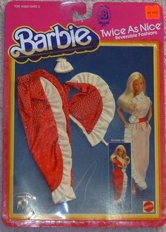 Thought this was awesome when I was little. My friend had this outfit for her barbie and I always wanted it