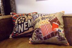 Capa de Almofada Cinema Retro Movie Cosi Dimora