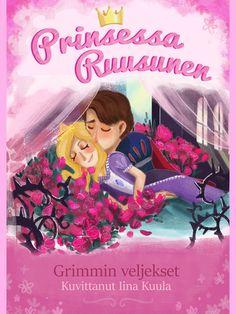 Prinsessa Ruusunen on klassikkosatu pienestä tytöstä, jonka ylle paha haltijatar langettaa kirouksen. Satavuotisen unen jälkeen urhea prinssi herättää Ruususen, ja valtakunnassa on taas kaikki hyvin. Iina Kuulan upea kuvitus ihastuttaa pienimmänkin lukijan ja antaa mielikuvitukselle siivet. Grimm, Disney Characters, Fictional Characters, Disney Princess, Movies, Movie Posters, Films, Film Poster, Cinema