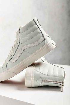 65771a29e04f Vans Leather Slim Zip Sneaker in Mint Green