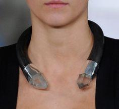 Loving the industrial chic neckwear at #Edun #NYFW