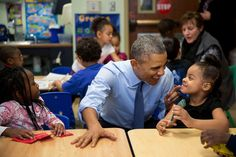 And play with a lot of kids. | All The Times President Obama Lost His Chill Around Kids