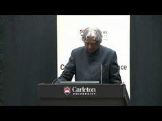 APJ Abdul Kalam, former India president, lectures at Carleton
