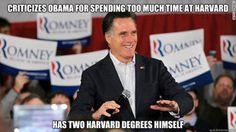 Douchebag Romney: Two Harvard degrees