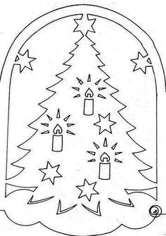 Christmas kuvioita ikkunat