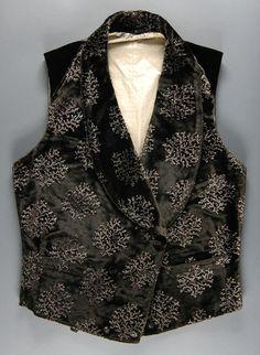 Man's waistcoat, late 19th century, American: silk velvet (Philadelphia Museum of Art collection)