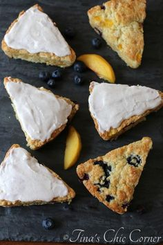 Peach Blueberry Scones With Spice Frosting