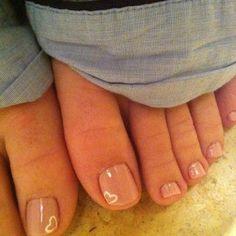 Mini Heart Toe Nail Design More