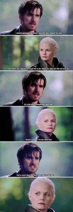 """""""You're more than the Dark One, you're still you!"""" - Emma and Hook #OnceUponATime"""
