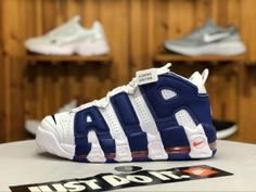 c0d21c64be1a NIKE Air More Uptempo  96 White Deep Royal 921948-101 Mens Womens Running