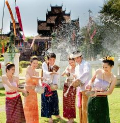 Wear Thai dress and come to Pattaya Floating Market for songkran festival on April 😄 Special for Thai peeps 'FREE entrance and on boat'😄 Bangkok Travel, Thailand Travel, Lao New Year, Songkran Thailand, Thai Phrases, Asian New Year, Thailand Festivals, New Years Cocktails, Burma