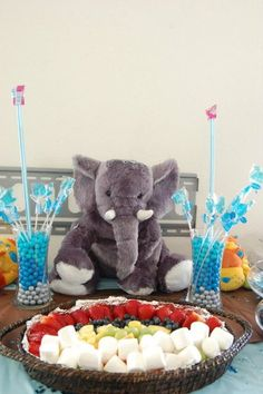 """Photo 1 of 19: jungle animals / Baby Shower/Sip & See """"Baby Shower - Jungle Blue"""" 