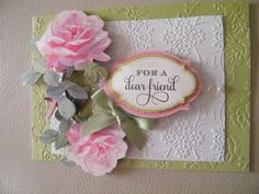 Anna Griffin card with embossing