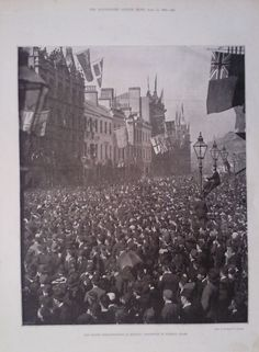 1893 PRINT THE ULSTER DEMONSTRATION AT BELFAST:PROCESSION IN DONEGAL PLACE