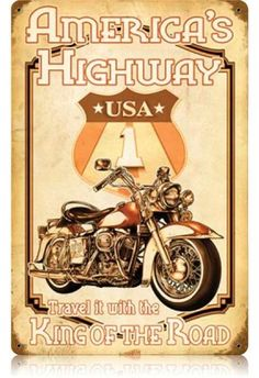 Vintage and Retro Wall Decor - JackandFriends.com - Vintage Americas Highway Metal Sign, $39.97 (http://www.jackandfriends.com/vintage-americas-highway-metal-sign/)