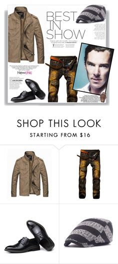 """""""NewChic #23 (Men 09)"""" by railda-pereira ❤ liked on Polyvore featuring vintage, men's fashion, menswear, chic, New and newchic"""