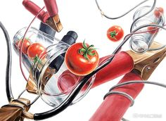 홍대입시미술학원, 그린섬(본원)이 발간하는 미대입시 전문 웹매거진. 월간그린섬 5호가 발간되었습니다! ... Art Sketches, Art Drawings, Realistic Pencil Drawings, Picture Composition, Sketching Tips, Food Art, Colored Pencils, Design Art, Decoupage