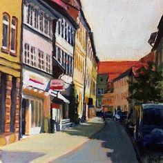 Lange Geismarstrasse, Göttingen #goettingen #yellow #blue #red #lizahirst