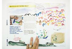 Kid created newletters/magazines.
