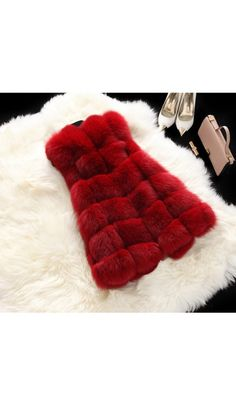Women Faux Fox Fur Coat Sleeveless Outwear Warm Vest Mid Long 2018 New Waistcoat in Clothing, Shoes & Accessories, Women's Clothing, Coats & Jackets Grey Faux Fur Coat, Faux Fur Vests, Fur Waistcoat, Red Duvet Cover, Flying With A Baby, Red Fur, Fur Accessories, Long Vests, Outerwear Women