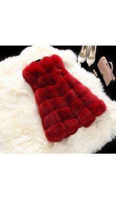 Women Faux Fox Fur Coat Sleeveless Outwear Warm Vest Mid Long 2018 New Waistcoat in Clothing, Shoes & Accessories, Women's Clothing, Coats & Jackets Grey Faux Fur Coat, Fox Fur Coat, Faux Fur Vests, Coats For Women, Jackets For Women, Plus Size Vests, Fur Waistcoat, Vest Coat, Outerwear Women