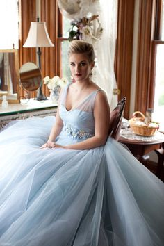 Something BLUE - wedding dress via Nicole Couture for AniA Collection