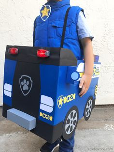DIY Paw Patrol Chase and Skye Halloween Costumes – Studio Xtine Chase Paw Patrol Costume, Paw Patrol Halloween Costume, Chase Costume, Halloween Costumes For Kids, Marshall Paw Patrol Costume, Halloween 2015, Paw Patrol Birthday Theme, Paw Patrol Party, Paw Patrol Disfraz