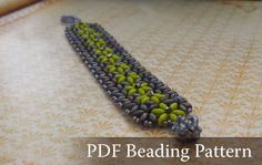 Super Duo Beads Free Patterns | simple beading project for this flower bracelet from super duo beads ...