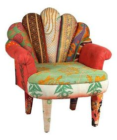 Amazing Love This Green U0026 Orange Peacock Kantha Chair On #zulily! #zulilyfinds Images