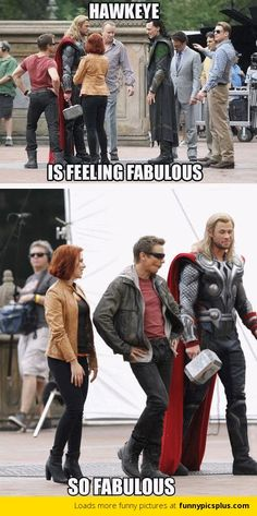 Funny pictures about Jeremy Renner is feeling fabulous. Oh, and cool pics about Jeremy Renner is feeling fabulous. Also, Jeremy Renner is feeling fabulous. Avengers Humor, The Avengers, Funny Marvel Memes, Marvel Jokes, Dc Memes, Funny Memes, Hilarious, Hawkeye Avengers, Loki Meme