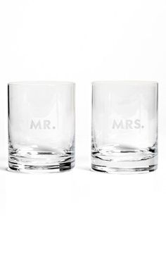 mr. and mrs. double old fashioned glasses