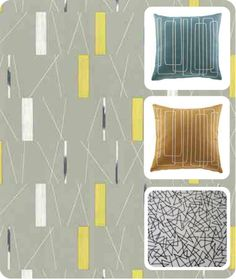 Sanderson Mobiles (Slate Blue Lime) Wallpaper From The 50s Collection |  Mobiles | Pinterest | Mobiles, Mønstre Og Stof Pictures