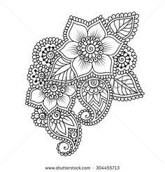 Hand-Drawn Abstract Henna Mehndi Flower Ornament Stock Vector Illustration 304455713 : Shutterstock