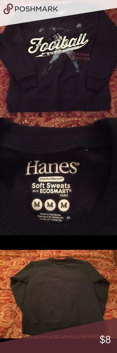 Boy's Hanes Football American Edition Sweatshirt Boy's Hanes Football American Edition Sweatshirt.....Size Medium....Comfort blend...Made in Honduras Hanes Shirts & Tops Sweatshirts & Hoodies