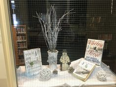 Winter snow theme window display