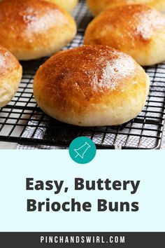 The best recipe for Homemade Brioche Buns! So easy! Just 7 simple ingredients and quick with a total 15 minutes of active time! Make the same day or the night before. The perfect balance of savory and sweet - perfect for all sorts of burgers and sandwiches! Potluck Side Dishes, Side Dishes Easy, Muffin Recipes, Breakfast Recipes, Easy French Recipes, Homemade Brioche, Homemade Hamburgers, Bun Recipe, Bread Machine Recipes