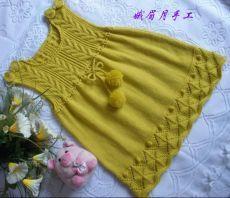 60 Ideas Crochet Sweater Diy Baby Cardigan For 2019 Knitting For Kids, Crochet For Kids, Baby Knitting Patterns, Knitting Designs, Baby Patterns, Sweater Patterns, Girls Knitted Dress, Knit Baby Dress, Baby Cardigan