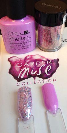 CND Shellac Beckoning Begonia and Goddess Multi Glitz Lecente Glitter