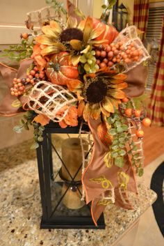 Fall Lantern Very pretty! May have to make this!