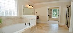 Custom Bathroom Design and Remodel. Call today to speak with a professional about Custom Bathroom Renovation Neutral Bathrooms Designs, City Bathrooms, Ceramic Tile Bathrooms, House Cleaning Services, Bright Homes, Half Walls, Master Bathroom, Flooring, Bathroom Ideas