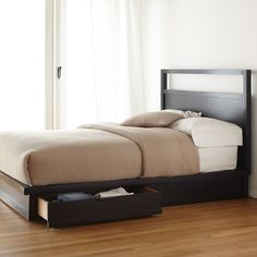 Bed with storage drawers underneath - $699 at the Company Store