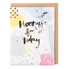 Hooray for today mini card