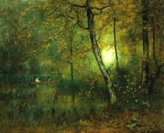 "elpasha711: ""George Inness (1825–1894) TitlePool in the Woods """